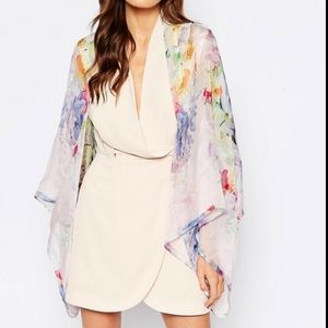 NWT Ted Baker Hanging Gardens cape scarf
